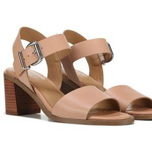 Franco Sarto Harlie leather block heel sandals 10
